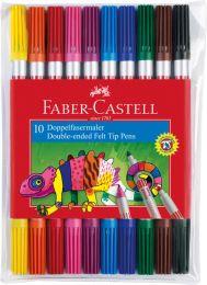 Faber Castell FC-151110 Viltstiften Duo Etui Met 10 Stuks