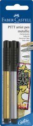Faber Castell FC-167396 Tekenstift Faber-Castell Pitt Artist Pen Blister Met Goud En Zilver
