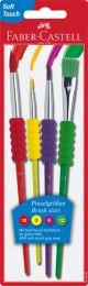Faber Castell FC-481600 Penselenset Plastic 4 Stuks