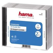 Hama CD Box Dubbel 5 Pak Geseald