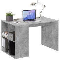 FMD Bureau met zijschappen 117x73x75 cm betonkleurig