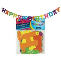 Happy Birthday Letterslinger 1,5 Meter