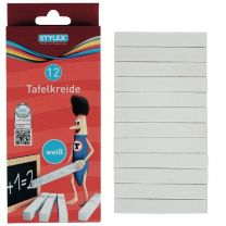 Stylex Bordkrijt Wit 10stuks