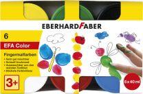 Eberhard Faber EF-578606 Vingerverf 6 Kleuren 6x40ml