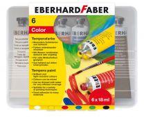 Eberhard Faber EF-575505 Plakkaatverf 6 Kleuren Tube 18 Ml