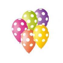 Ballonnen Grote Stippen, 5st.