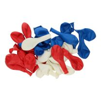 Ballonnen Rood/Wit/Blauw, 36st