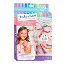 Make It Real - Suede Armbandjes met Goudkleurige Schakels