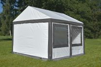 Ultimate Partytent PVC 4x4x2.2 meter in Wit-Grijs