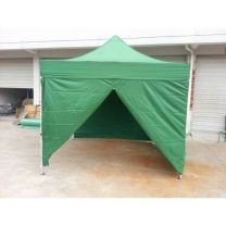 Partytent Easy Up 2,5 x 2,5 meter ALU frame met zijwanden in Groen