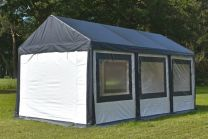 Ultimate Partytent PVC 4x6x2.2 meter in Antraciet-Wit