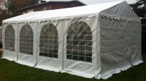 Premium Partytent PVC 3x8x2 mtr in Wit
