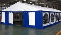 Premium Partytent PVC 5x8x2 mtr in Wit-Blauw