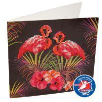 Craft Buddy Crystal Art Diamond Painting Flamingo's 18x18 cm