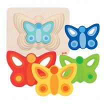 Lagenpuzzel Vlinder, 5 Lagen