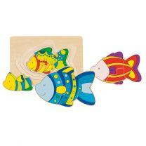 Houten 3-lagen Puzzel Vis