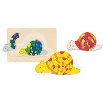Houten 3-lagen Puzzel Slak