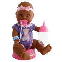New Born Baby Afro-Amerikaanse Pop, 4dlg.