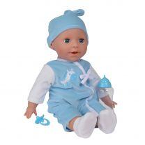 Baby Laura Pop Jongen met Accessoires, 38cm