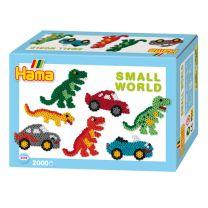 Hama Strijkkralenset - Dino en Auto, 2000st.
