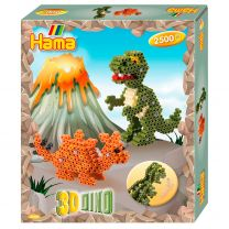 Hama Strijkkralenset - 3D Dino, 2500st.