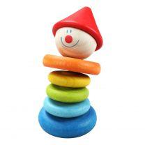 Classic World Houten Rammelaar Clown