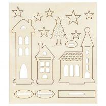 Maak en Versier je Houten Kerstdorp