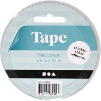 Dubbelzijdig Klevend Tape 3mm, 10m