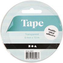 Dubbelzijdig Klevend Tape 6mm, 10m