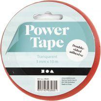 Dubbelzijdig Klevend Power Tape 3mm, 10m