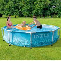 Intex 28206NP Beachside Metal Frame Zwembad 305x76 cm zonder Filterpomp