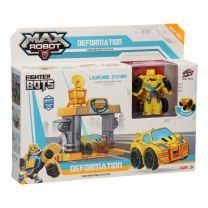 Max Robot Transformeerset Lanceerbaan - Geel
