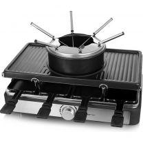 Emerio RG-124930 Gourmet en Fondue Set Zwart/RVS