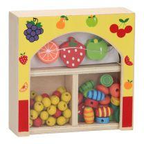 Kralendoosje Hout - Fruit