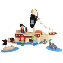 Draagbare Piraten Speelset, 10dlg.