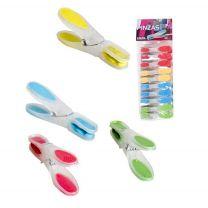 Wasknijpers met softgrip , set van 24 stuks