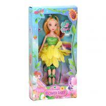 Pop Bloemenmeisje - Geel, 24cm