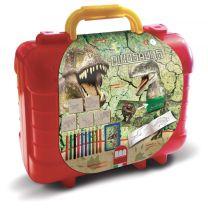Dinosaures Koffer Kleur- en Stempelset 29-delig