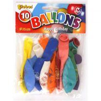 Globos Happy Birthday Ballonnen 10 Stuks