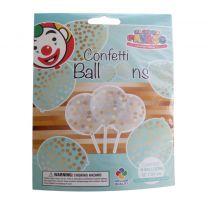 Globos Ballonnen met Confetti 6 Stuks Transparant/Goud