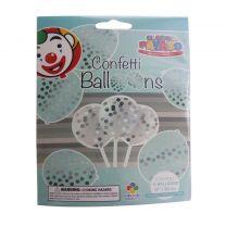 Globos Ballonnen met Confetti 6 Stuks Transparant /Zilver