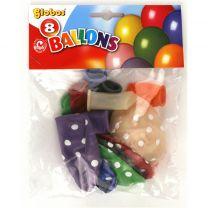 Globos Ballon met Stippen 8 Stuks