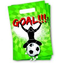 Sportieve Goal Partytasjes 6 Stuks
