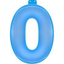 Opblaasbaar Cijfer 0 Blauw 35cm