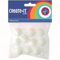 Create It Polystyreen Bollen 2.5 cm 10 Stuks