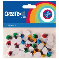 Create-It Knutselset Bewegende Ogen 75stuks