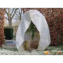 Nature Winterhoes met rits 70 g/m 2x1,5x1,5 m beige