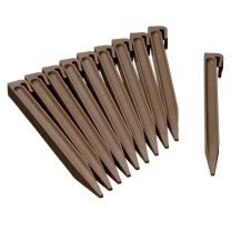 Grondpennen voor borderranden taupe H26,7x1,9x1,8 cm set 10 stuks