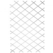 Nature Tuinlatwerk 100x200 cm PVC wit 6040703