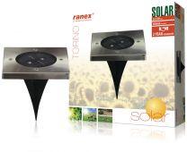 Ranex RA-5000406 LED Solar Grondspot RVS